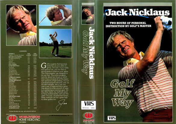 JACK NICKLAUS - GOLF MY WAY (VHS)
