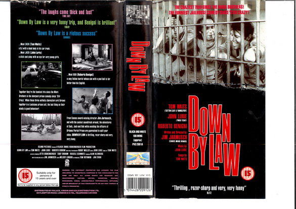 DOWN BY LAW (VHS) UK