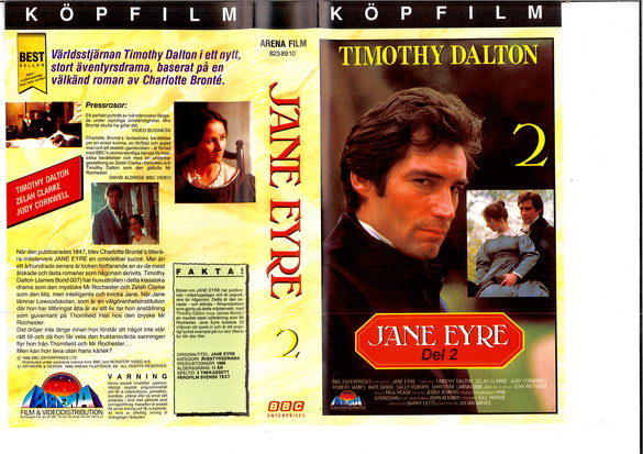 JANE EYRE DEL 2 (VHS)