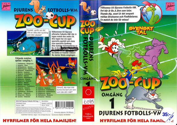 ZOO-CUP OMGÅNG 1 (VHS)