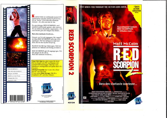 RED SCORPION 2 (VHS)