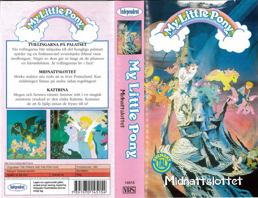 MY LITTLE PONY MIDNATTSLOTTET (VHS)