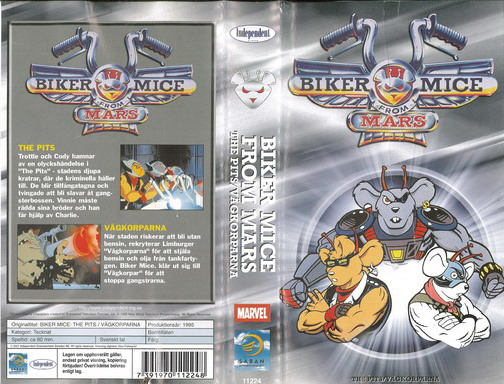 BIKER MICE FROM MARS - THE PITS/VÄGKORPARNA(VHS)