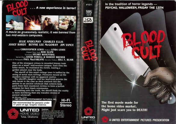 BLOOD CULT (VHS) IMPORT