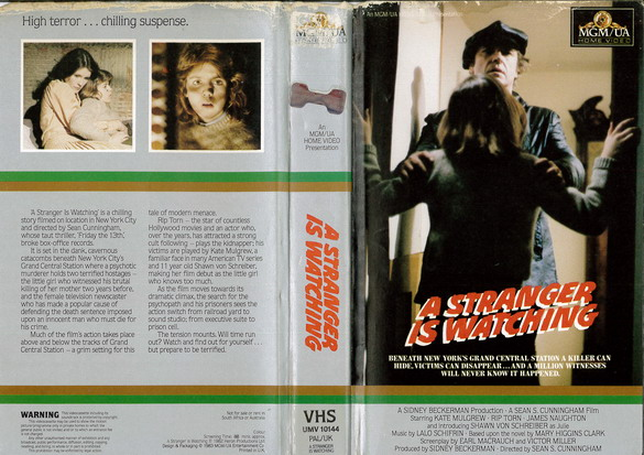 A STRANGER IS WATCHING (VHS) UK