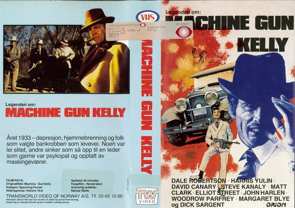 MACHINE GUN KELLY (VHS) NORGE