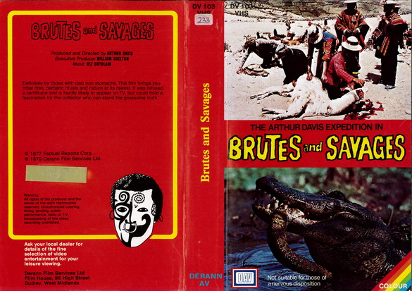 BRUTES AND SAVAGES (VHS) UK