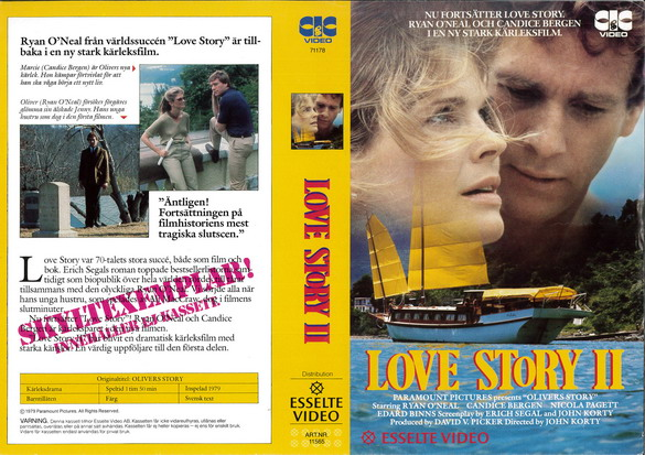 LOVE STORY 2 (VHS)