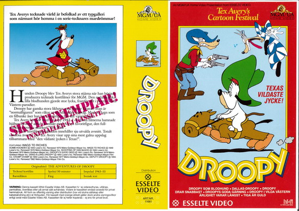 DROOPY (vhs)