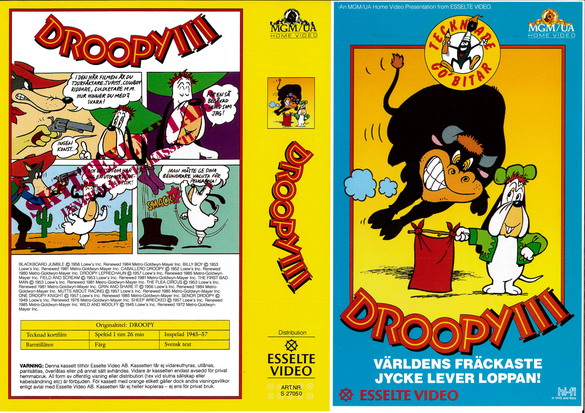DROOPY 3 (vhs)