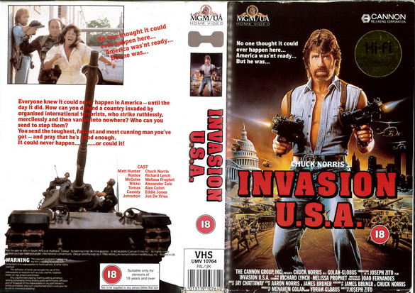 INVASION USA (VHS) UK