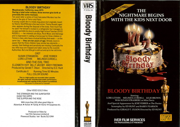 BLOODY BIRTHDAY (VHS) UK
