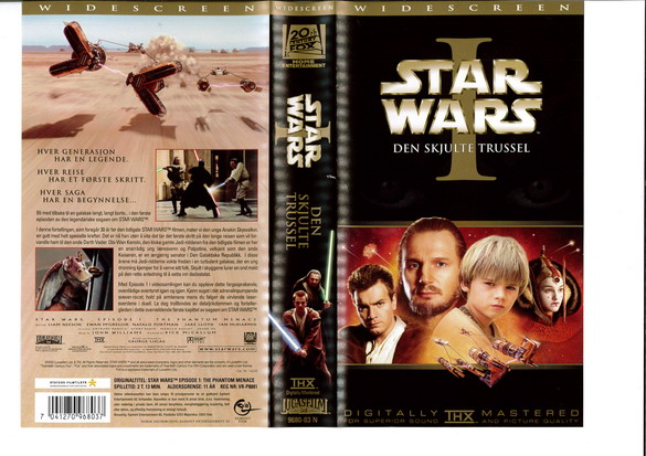 STAR WARS EP 1 (VHS)NORGE