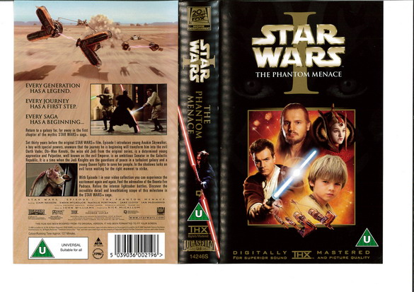 STAR WARS EP 1 (VHS) UK