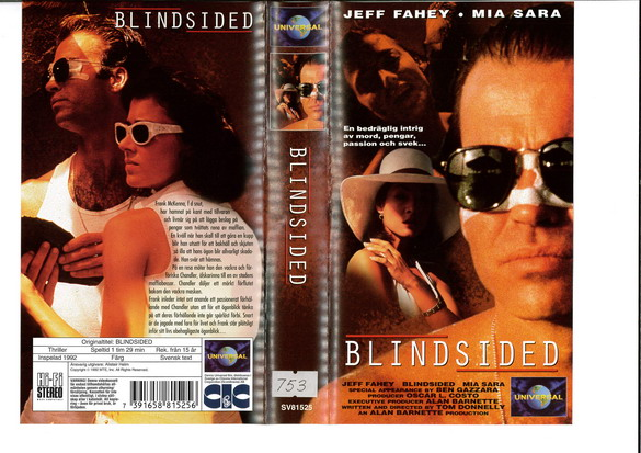 BLINDSIDED (VHS)