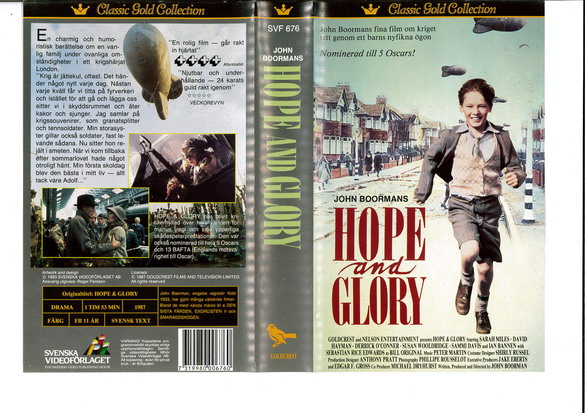 svf 676 HOPE AND GLORY (VHS)
