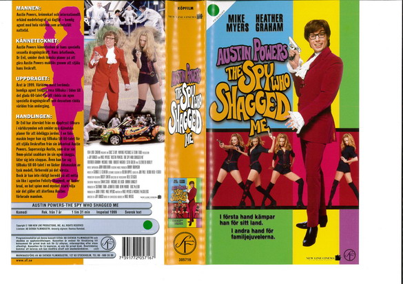 AUSTIN POWERS-THE SPY WHO SHAGGED ME (VHS)