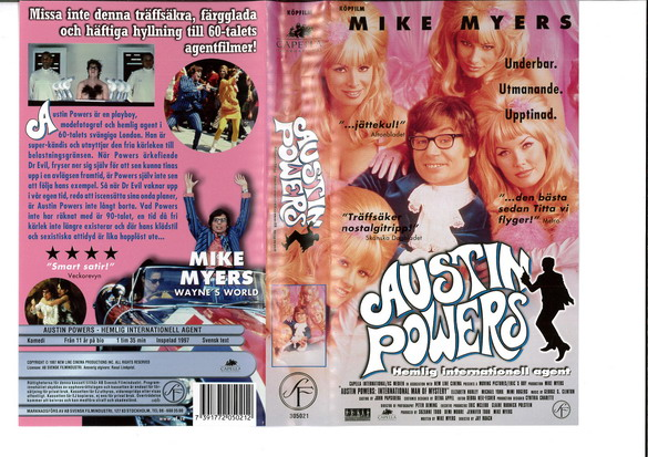 AUSTIN POWERS HEMLIG INTERNATIONELL AGENT (VHS)