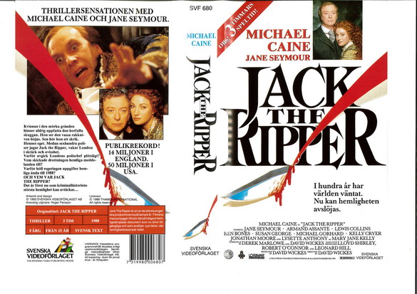 JACK THE RIPPER - HELA SERIEN  (VHS)