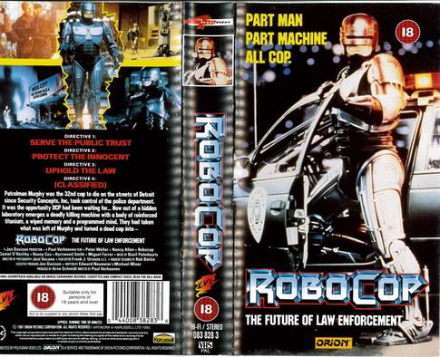 ROBOCOP  (VHS) UK