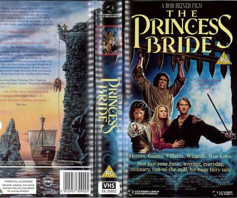 PRINCESS BREDE  (VHS) UK