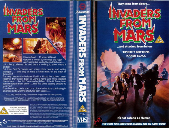 INVADERS FROM MARS  (VHS) UK