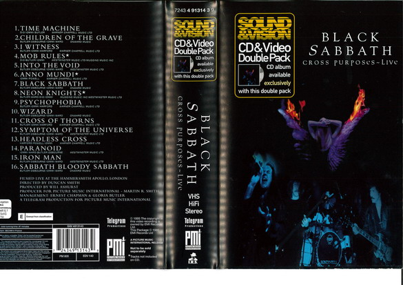 BLACK SABBATH: CROSS PURPOSES -LIVE (VHS)