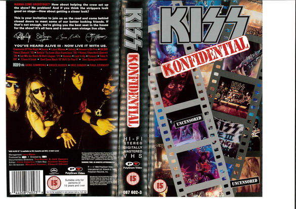 KISS: KONFIDENTIAL (VHS)