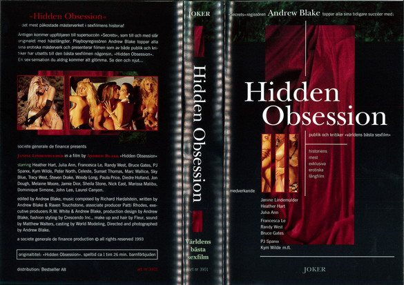 3901 HIDDEN OBSESSION (VHS)