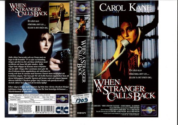 WHEN A STRANGER CALLS BACK (VHS)
