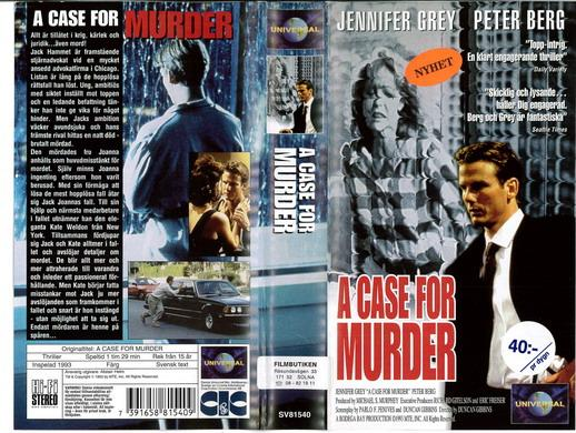 A CASE FOR MURDER (VHS)