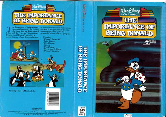 IMPORTANCE OF BEING DONALD (VHS) AUS