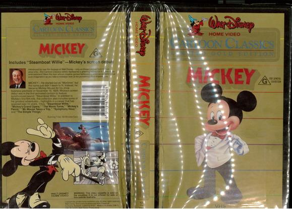 CARTOON CLASSICS MICKEY (VHS) AUS