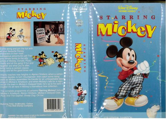 STARRING MICKEY (VHS) AUS
