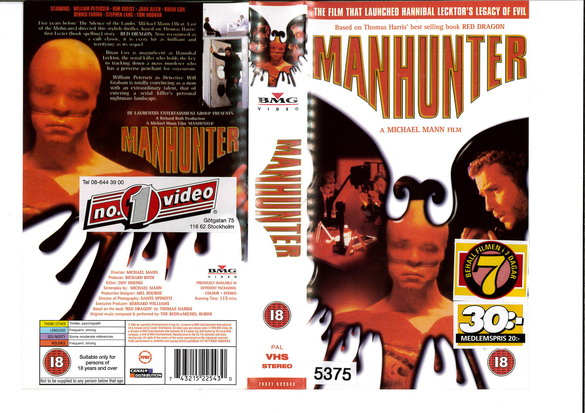MANHUNTER (VHS) UK