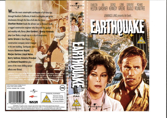 EATHQUAKE  (VHS) UK