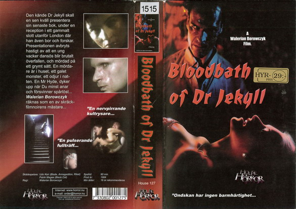 BLOODBATH OF DR JEKYLL (VHS)