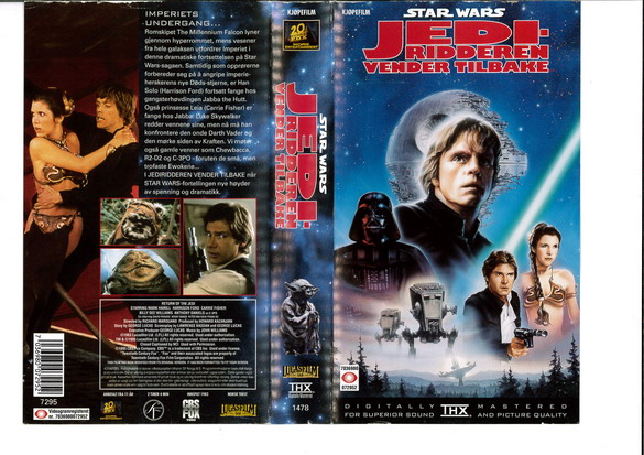 STAR WARS EP  6 (VHS)NORGE