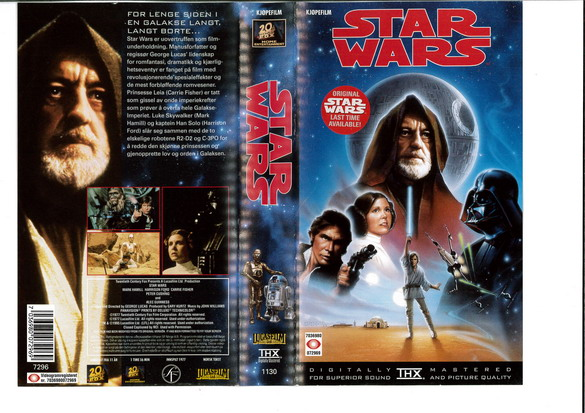 STAR WARS EP 4 (VHS)NORGE