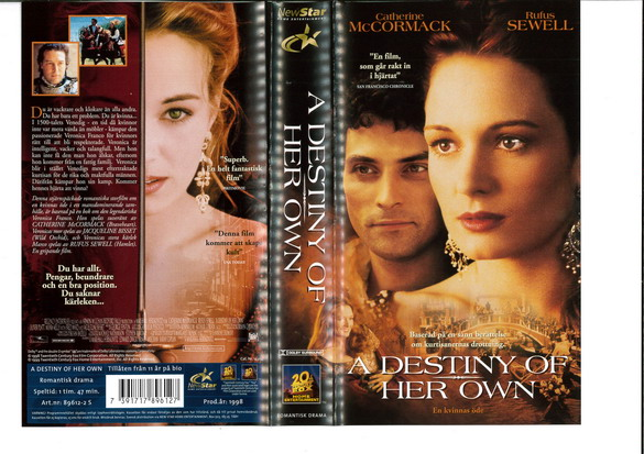 A DESSTINY OF HER OWN (VHS)