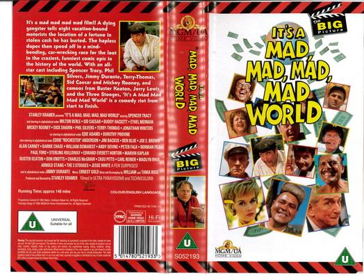 IT'S A MAD,MAD,MAD WORLD (VHS) UK