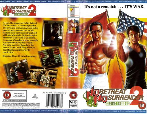 NO RETREAT NO SURRENDER 2 (VHS) UK