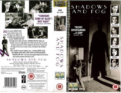 SHADOWS AND FOG (VHS) UK