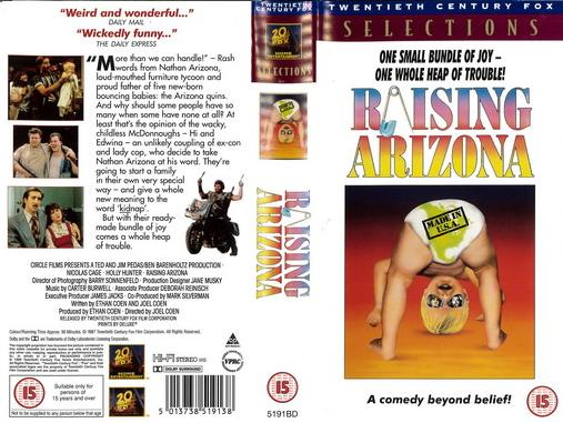RAISING ARIZONA (VHS) UK