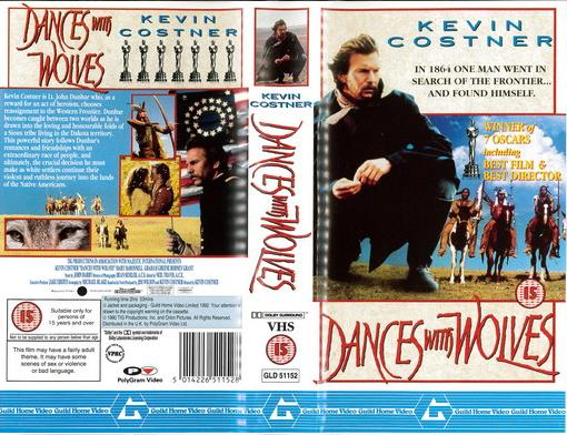 DANCES WITH WOLVES (VHS) UK