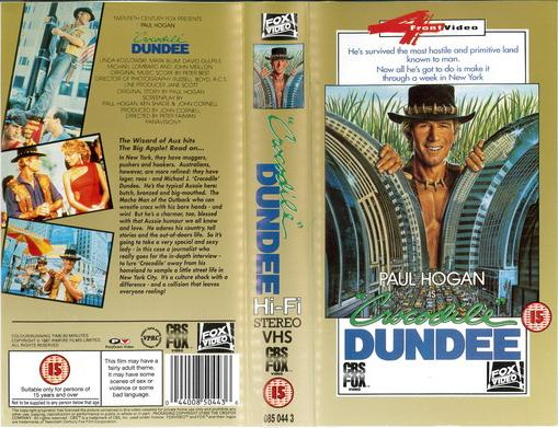 CROCODILE DUNDEE (VHS) UK