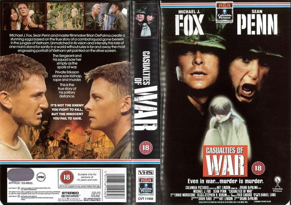 CASUALITIES OF WAR (VHS) UK