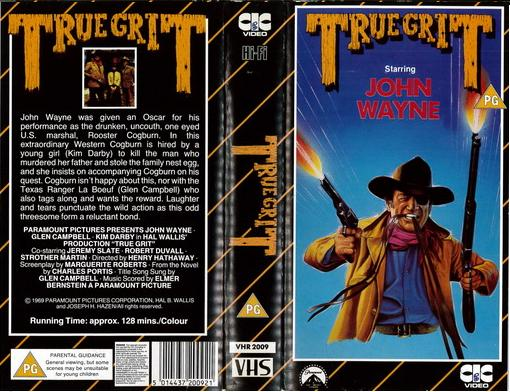 TRUE GRIT (VHS) UK