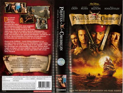 PIRATES OF THE CARIBBEAN:SVARTA PÄRLANS FÖRBANNELSE (VHS)
