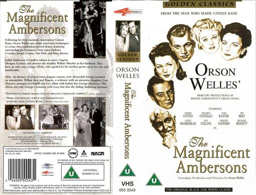 MAGNIFICENT AMBERSONS (VHS) UK